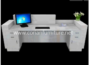 White Corian Office Set Managing Director Office CEO Table with Cabinets pictures & photos