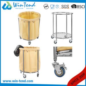 Hospital Round Fully Wleding Linen Laundry Trolley pictures & photos