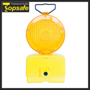 Yellow PC Lens 6V Battery LED Flare Traffic Warning Light pictures & photos