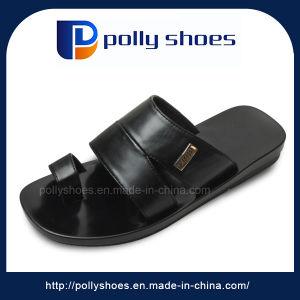 Wholesale PU Men Black Slipper Flip Flop pictures & photos