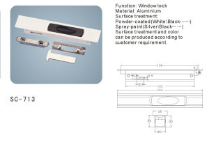 Aluminium Sliding Window Lock (SC-713) pictures & photos