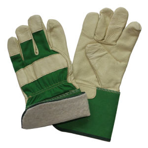 Pig Grain Leather Labor Safety Work Gloves pictures & photos
