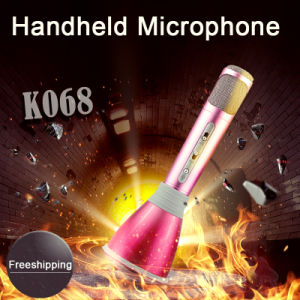 K068 Wholesale Bluetooth Wireless Portable Mini Microphone Karaoke Speaker Mic pictures & photos