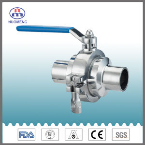 DIN Stainless Steel Welded Non-Residue Ball Valve for Beverage Industries pictures & photos