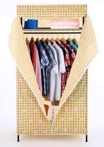 Amjmw011b Fabric Wardrobe Cloth Garment Rack Shelf Stand pictures & photos