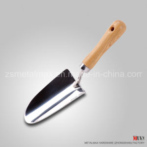 Wholesale Stainless Steel Garden Hand Tools Spade Wooden Handle Hand Trowel pictures & photos