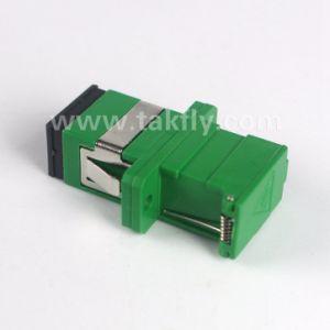 Sc/APC Singlemode Simplex Shutter Fiber Optical Adapter pictures & photos