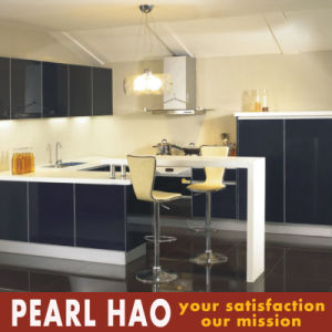 Customize U Style Acrylic Kitchen Cabinet with Bar Table pictures & photos