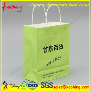 Unique Fashion Custom Logo Colour Printed Shopping Bag / Paper Bag with Ribbon Handle pictures & photos