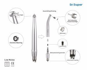 Push Button E-Generator Fiber Optic Dental LED High Speed Handpiece pictures & photos