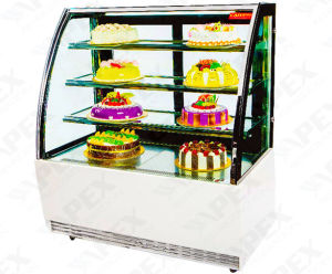 2016 New Styel Cake Showcase Cooler with Front Sliding Doors pictures & photos