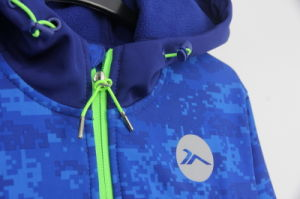 Ss17 New Design Wholesale Custom Printed Camouflage Men Softshel Bondedl Zip Through Sweatshirts Hoodies Jacket pictures & photos