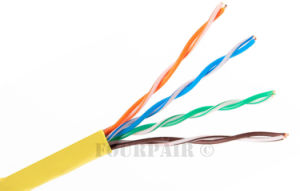 UTP Cat 5e Network Cable Copper 24 AWG pictures & photos