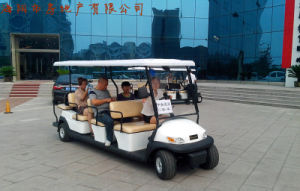 Cheap 11 Passengers Electric Tourist Car for Sale pictures & photos