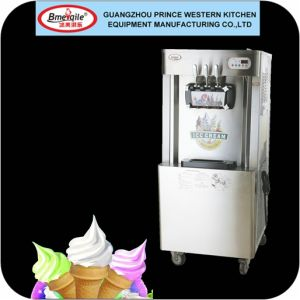 Soft Serve Ice Cream Machine Mq-L22b Floor Type Frozen Yogurt Machine with Adjustable Flow-Rate Handles pictures & photos