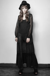 Py-192 Lolita Lovely Costume Vintage Style Sheer Sleeves Long Lace Dress pictures & photos