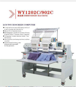 Topwisdom Computer Embroidery Software 2 Head Top Commercial Monogramming Embroidery Machine pictures & photos