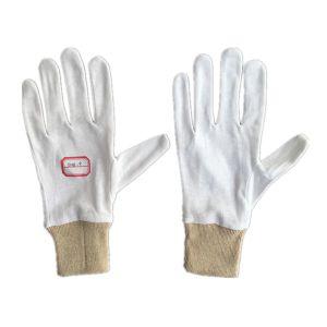 Palm to Palm Knit Wrist 100% Cotton Glove Gardening Working Glove (2118) pictures & photos