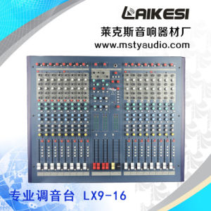 Lx9-16 Professional 16 Channel Audio Mixer for Stage pictures & photos