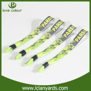 Promotional Plastic Closure Fabric Wristbands Sublimation Printed Logo