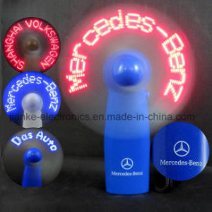 Hot Sell LED Message Promotion Gift Mini Fans with Logo Printed (3509)