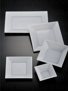 Shape 1 Easylife Various Disposable PS Plastic Square Plate pictures & photos