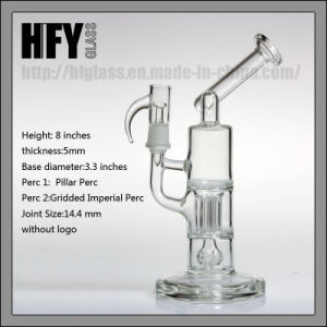 Hfy Glass Smoking Water Pipe Sovereignty Glass Oil Rigs Waterpipes Hookah Mini Pillar Perc Bubbler Pipe Sidecar Rigs pictures & photos