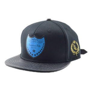 5 Panel Custom Snapback Cap with Badge pictures & photos