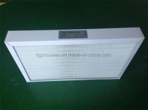 Cardboard Mini Pleated Fiberglass HEPA Filter pictures & photos