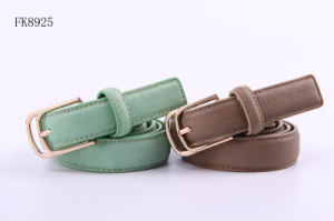 Girls Fashion PU Belts, Fashoin Accessories Ladies Waist Belts with Double Pin pictures & photos