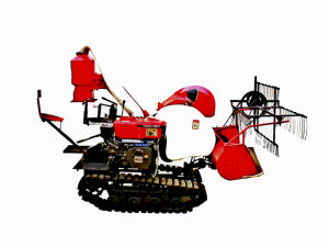 Model 4lz-0.8 Latest Crawler Rice Paddy Combine Harvester pictures & photos