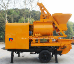 High Efficiency Trailer Concrete Pump with Twin-Shaft Mixer for Sale pictures & photos