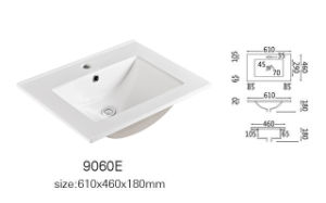 Sanitary Ware Bathroom Basin/Ceramic Basin (9060E) pictures & photos