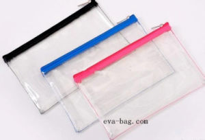 Highly Glassy A4 Sewing PVC Doucment Wallet Plastic Folder Bag pictures & photos