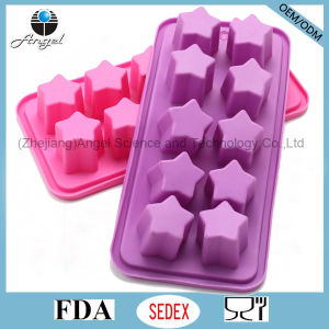 Holiday Sale 10-Cavity Star Silicone Ice Jelly Mould Si31