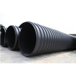 Steel Band Reinforced PE Corrugated Drainage Drain Pipe pictures & photos