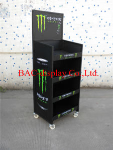 High Quality Powder Coating Metal Canned Drink Display Shelves pictures & photos