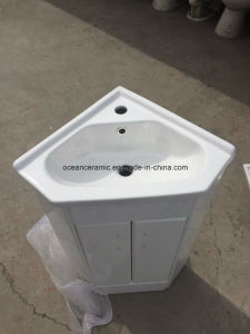 Pbc-9068s Bathroom Furniture, Sanitary Ware, Cheap Stand Corner PVC Bathroom Cabinet pictures & photos