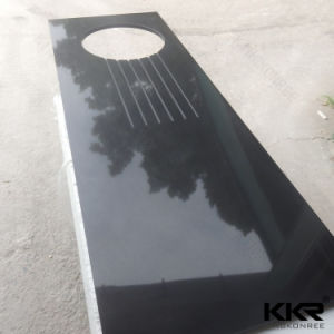 Black Kitchen Quartz Marble Stone Bench Tops for Home (C1706071) pictures & photos