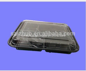 5 Compartment Thickness Disposable Plastic Lunch Container pictures & photos