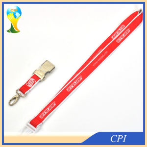Woven Logo Satin Lanyard with Half-Metal Custom Buckle pictures & photos