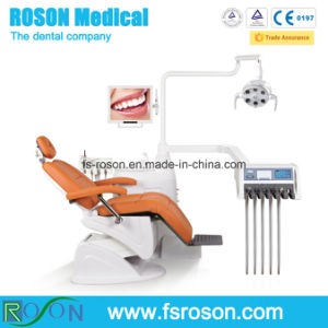 Leather Cushion Dental Chair Unit with Touch Screen Control Panel pictures & photos