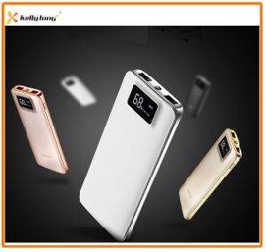 Two Output, LED Light, LCD Display Polymer Slim Power Bank 10000mAh pictures & photos