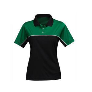 Plain Women Fitness Wear Sports Polo T-Shirt pictures & photos