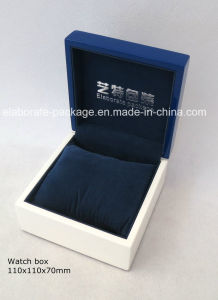 Custom Blue jewellery Box Wooden Box for Jewelry Packaging pictures & photos