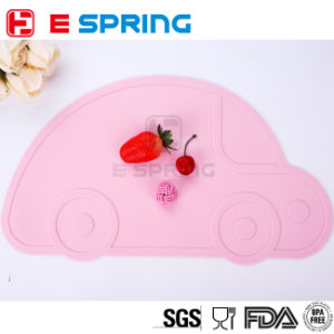 Car Shape Silicone Kids Placemat Non-Toxic Plate Mat Waterproof Table Pads pictures & photos
