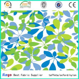 Polyester Leaf Printed PU PVC Coated Oxford Cloth pictures & photos