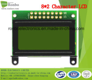 8X2 Character LCD Display, Mpu 8bit, Y/G Backlight, Stn Type, COB LCD Screen pictures & photos