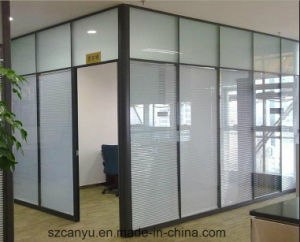 Modern Office Four Person Workstation Partition with Kneehole Cabinet pictures & photos