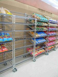 Wholesale Chrome Metal Wire Supermarket Gondola Shelving Rack pictures & photos